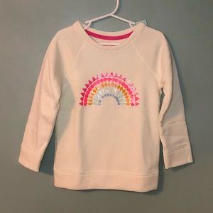 Cat & Jack Girls 4T Rainbow Sweatshirt NWT